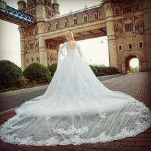 Real Photo 2018 Alibaba White Lace Wedding Dress Princess Dress