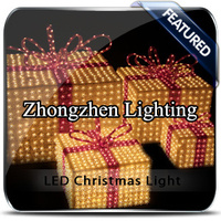 2015 commercial pre lit led uk christmas gift box wholesale