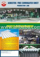 PVA fiber reinforced corrugated roofing sheet production line,