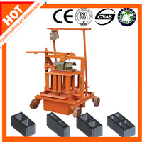 small family business to do QMJ2-45 manual mobile brick machine