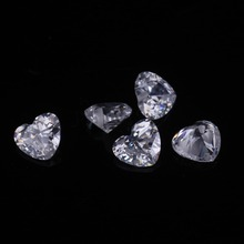 Cheap price white heart shape Cubic Zirconia loose gemstones