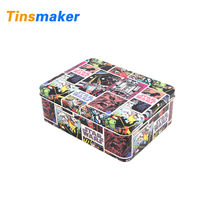 Personalized custom large storage colored metal tin gift boxes