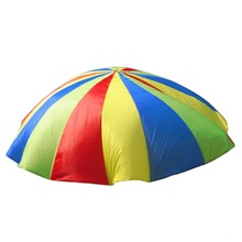 Rainbow Parachute with Handles for Back Yard Game Parachute <strong>Toy</strong> for Kids