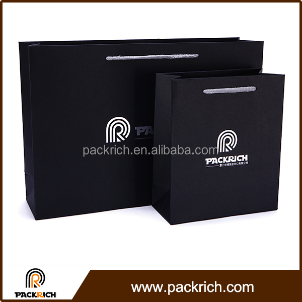 Multi-level thickness recycled good quality durable kraft paper shopping bag