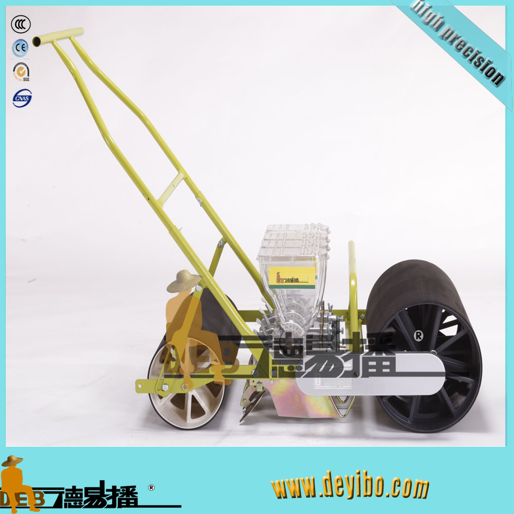 4 rows hand push seed drill in high performance/manual spinach seed drill