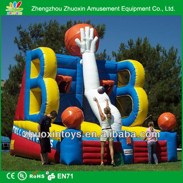 outdoor sport play toys sport games arena inflatable basket court