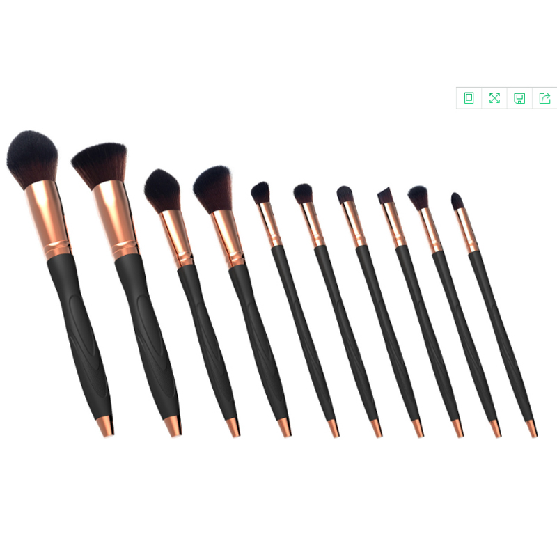 2017 direct factory hot selling 10pcs microphone cosmetic makeup brush set