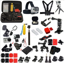 Promotion 50 in 1 for GoPro Accesories Sports Action Camera Accessories Set /Kits /Pack Storage Bag