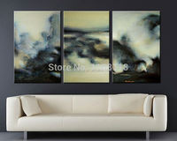 3 piece floral painting decorative art set modern wall art traditional Chinese Abstract hand painted Canvas Oil Painting