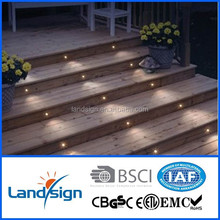 Ip68 12V recessed floor led step series outdoor stainless steel led stair light/led outdoor flood light 12v/12V led deck light