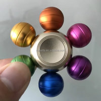 Sixe Ball Fidget Spinner With Material