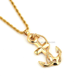 stainless steel anchor pendant/ heart anchor charm wholesale P602