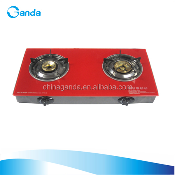 Table Tempered Glass Top 2 burners Gas Cooker (GT-722P)