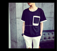online shopping T-Shirt white blank 100% Cotton pocketed t-shirt bulk wholesale clothing