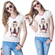 new arrivals 100 percent cotton fabrics lady printed white t shirt, 100 cotton white t shirt