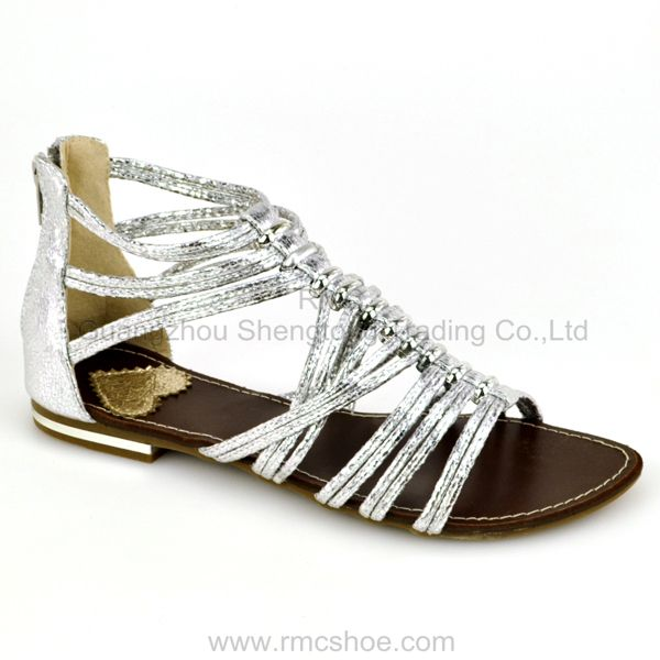 2014 China flat roman sandals for women