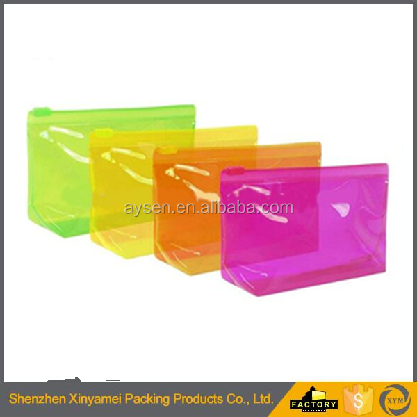 High Quality Custom Printing Ziplock Mesh Stationery PVC Pouch/Plastic Pvc Ziplock Pencil Pouch/Custom Slider Zipper Bag