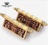 High quality European style solid brass wooden door hinge