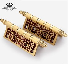 High quality European style solid brass wooden door hinge