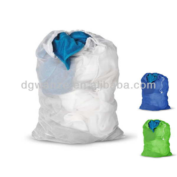 nylon mesh drawstring laundry bag