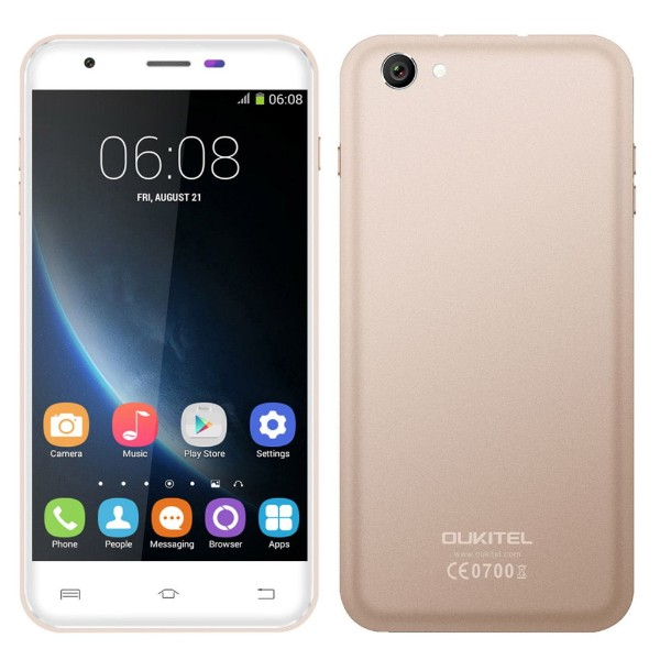 Original OUKITEL U7 Pro Android 5.1 Smartphone MT6580 Quad-Core 1280 x 720 1G RAM 8G ROM Mobile phone 5.5 Inch 13.0MP Cell Phone