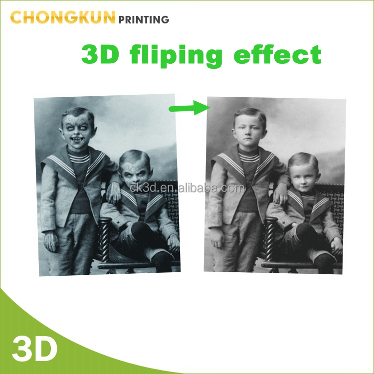 Horrible Halloween Painting Props 3D Halloween Lenticular 3D Changing Face