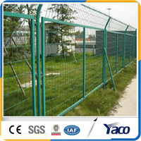 Green wire mesh fence for boundary wall