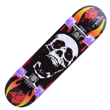 Hot sell 4 wheels 31 inch double concave maple skateboard for kid