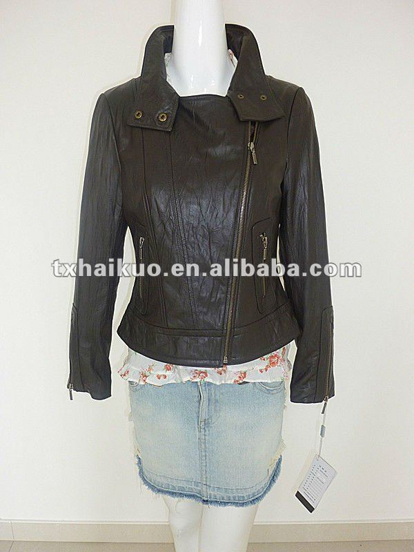 2012 ladies moterbike laether jacket