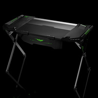 Alibaba hot selling gaming desk for gaming With Fighting LED Ambience Lighting E-sports Racing Table(JN-QD33)