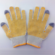 manufacturers in china cheap construction hand gloves with pvc dots