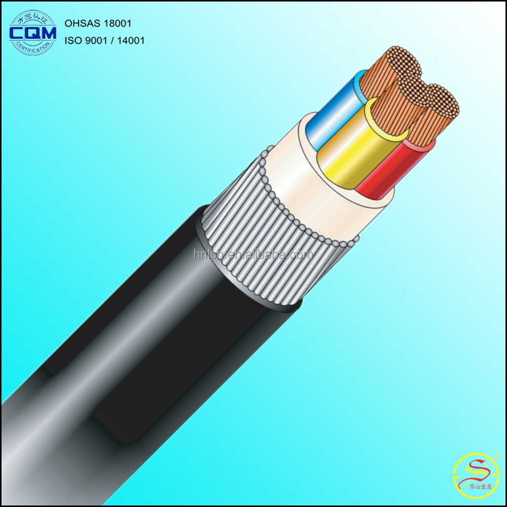 3x16mm2 600/1000V IEC 60502-1 CU / PVC / SWA / PVC Electrical Power Cable