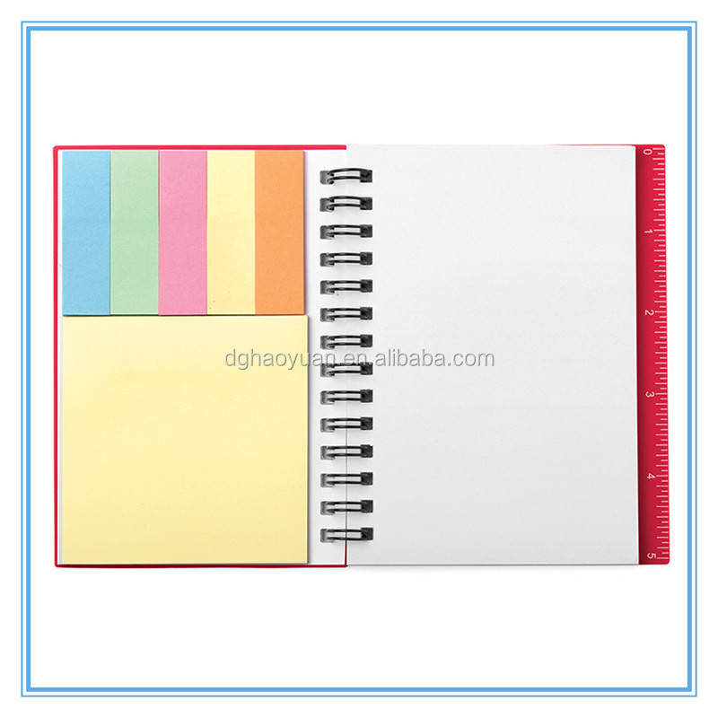 Beautiful PP cover notebook With sticky notes and pen for business