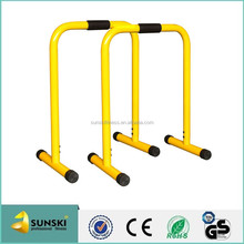 Yellow Dip Bars, Gymnastic Bars Great for Push Ups and Streng
