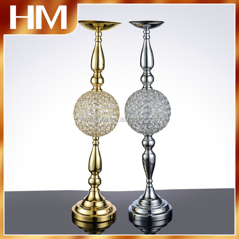 Simple Hot Crystal wedding centerpiece flower stand for table or floor decoration with high quality