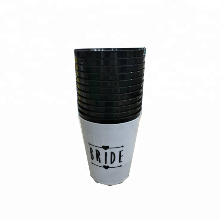 Black With White Bachelorette Party Favors Gifts Bachelorette Cups