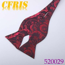 Cheap Red Self Tie Bow Tie