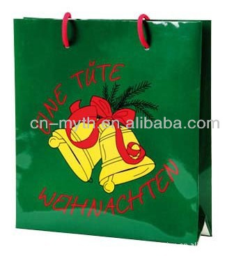 customized christmas paper bag