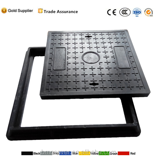 FRP Manhole Cover Plastic Composite SMC watertight manhole cover EN124