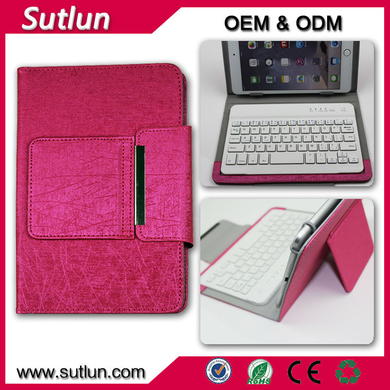 7 7.85 7.9 8 9 9.7 10 10.1 inch tablet pc leather case wireless bluetooth keyboard case for Apple ipad 2 3 4 air air2 mini 1 2 3