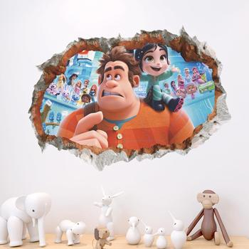 Fashion Cartoon Characters Stickers 3D Window Stickers for Kids Room Decoration