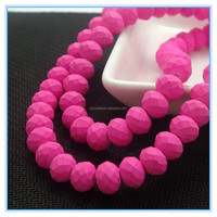 Fashion decoration rondelle rubber glass beads