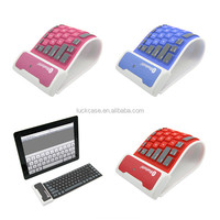 2016 latest selling product Universal waterproof foldable wireless mini silicone Bluetooth keyboard for iPad tablet/mobile phone