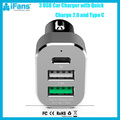 Rapid Charging Car Charger 3.0 Qualcomm Quick Car Charger for iPhone and Samsung Galaxy