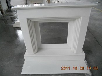 China alibaba perdurable natural marble fireplaces with pillar