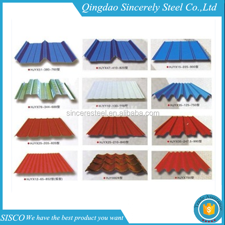 full hard corrugated prepainted color steel coated roof tile