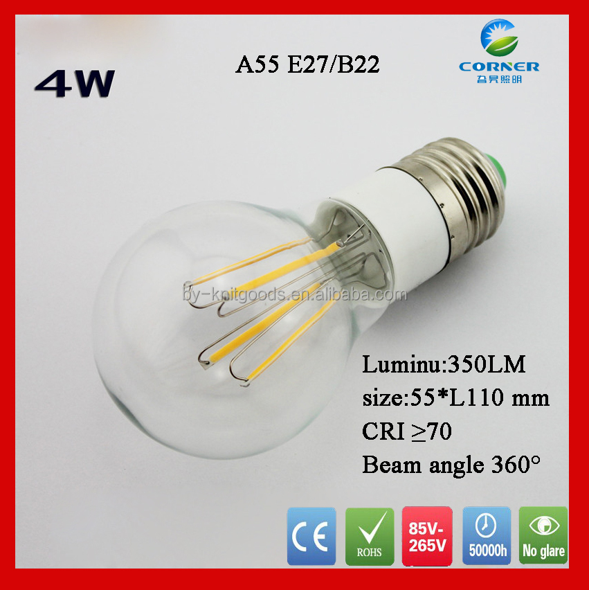 b22 led lamp bulb 4W led tungsten bulb 9pcs COB leds tungsten lamp 55x110mm <strong>e27</strong> or b22 base