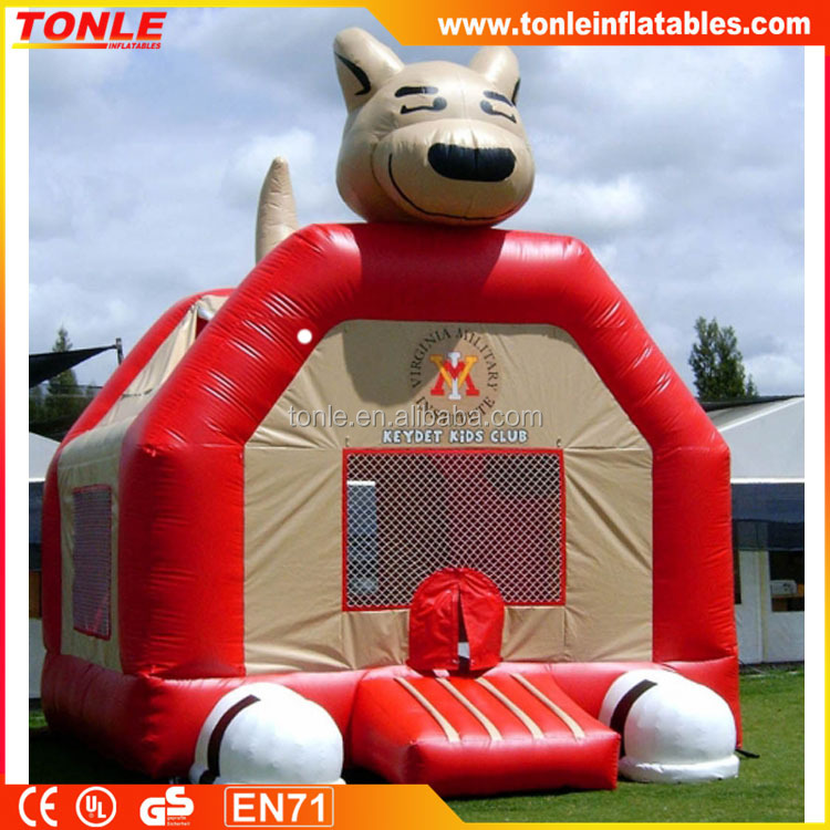 Customized inflatable PVC tarpaulin Sports bouncy castle, inflatable jumping bouncer price