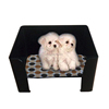 Custom Acrylic tray for pets feed bowl display stand black Dog cat kennel