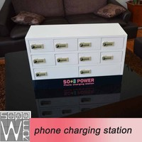 Sopower 10-door phone charging station external battery charger for samsung galaxy s4